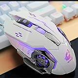 MaiTian Spielmaus, 3200 DPI und 7 programmierbare Tasten stumme Maus, benutzerdefinierte DPI,...