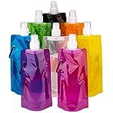 LUTER Faltbare Wasserflasche Trinkbeutel Trinkblase Mehrfarben Wiederverwendbare tragbare Falten...