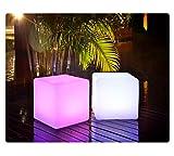 LED Würfel inkl. USB Lichtobjekt Leuchtwürfel Licht Garten Dekoration Cube Beleuchtung Marke...