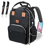 Baby Wickeltasche Wickelrucksack, von NAKO mit USB-Lade Port Kinderwagen-haken Isolierte Tasche für...