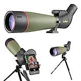 Gosky 2019 Spektiv Vogelbeobachtung 20-60 x 80 Porro Prism Spektiv - Abgewinkeltes BAK4-Teleskop -...