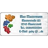 Adressaufkleber - Adressetiketten - Puzzle - 210 Stck 54 x 25 mm, 1-5 Zeilen beschriftbar