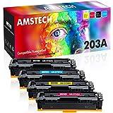 Amstech Kompatibel Toner Cartridge Replacement für HP 203A 203X CF540A CF540X CF541A CF542A CF543A...