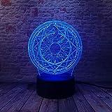 WangZJ Sakura Magic Circle Array 7 Farbwechsel Nachtlicht Tischlampe Urlaub Weihnachten Spielzeug...