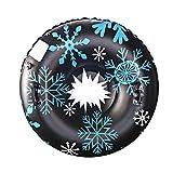 Qdreclod 47'' Aufblasbare Schlitten für Erwachsene, Schwerlast Aufblasbare Snow Tube mit Griffen,...