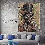 Geiqianjiumai Kunst leinwand Halloween Bild Rauchen Baron Poster wandkunst auf leinwand Moderne...