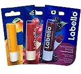 Labello Mango Shine, Labello BlackBerry Shine, Labello Cherry Shine Lippenbalsam Bundle