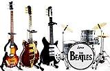 The Beatles Fab vier Miniatur-Gitarre und Schlagzeug Set von 4Cool
