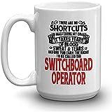 SWITCHBOARD OPERATOR Kaffeetasse - BLUT-SCHWEISS-TRÄNEN VERDIENTE SWITCHBOARD OPERATOR