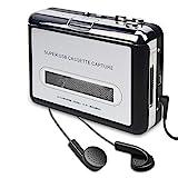 DIGITNOW! Kassettenspieler-Kassette zu MP3 / CD-Recorder über USB, Tragbarer Kassettenkonverter...