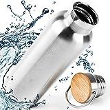 Pure Design Wasserflasche Edelstahl 1000ml 1l, 750ml, 500ml, 350ml Umweltfreundlich Isoliert Flasche...
