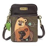 CHALA Damen Handtasche mit verstellbarem Riemen, Braun (Two Bears - Olive Stripe), Einheitsgröße