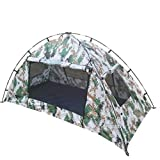 Tangzhi Camouflage Einzelzelt Manuelle Installation Zelt Camping Zelt im Freien (Color : Double...