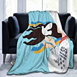 Flannel Fleece Throw Blankets,The Girl Wearing Ukranian Ethnic Costume and Hairband Sends A Dove for...