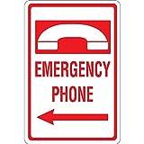 Oti34fgtephe Notruf-Telefon mit Pfeil nach Links, Aluminium