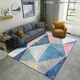 YQZS Home Teppich Kurzflor Modern Trendig Teppich Farbiges graues Dreieck Moderner, luxuriöser,...