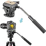 Neewer Fluid Videokopf Videoneiger Stativkopf Kugelkopf mit Schnellwechselplatte für DSLR-Kameras...