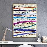 Geiqianjiumai Amerikanischen Stil abstrakte Poster Streifen Farbe Inkjet leinwand knstler...