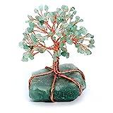 JSDDE Feng-Shui Geldbaum Edelstein Baum des Lebens Dekor Wire Wrap Trommelsteine Lebensbaum 7 Chakra...