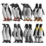 Mini Pinguin Figuren, Kleine Pinguin Spielzeug Tierfiguren Ornamente Garten Figuren Blumentopf Micro...