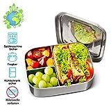 Charminer Lunchbox aus Edelstahl, Bento Box Metal Dense Lunchbox Lunchbox 1000ML mit 3 festen...