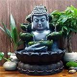 SPYXGS Kreative Chinesische Buddha Statuen Wasser Ornamente Zen Brunnen Glck Wohnzimmer Dekoration...