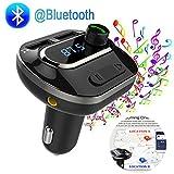 Bluetooth 4.1 FM Transmitter Fürs Auto, Wireless Radio Adapter, Music Player Car Kit Mit Zwei...