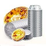 Aluminiumfolie, Tarteform, für Eier-Torten, Gefrierschrank und Ofenfest, Einweg-Aluminium, runde...