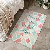 LIVEBOX Kinder Spielteppich, Meerjungfrau, Kinderzimmer-Teppich, personalisierbar, Samt, rutschfest,...