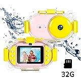ZHRLQ Unterwasserkamera, wasserdichte Super-HD-Selfie-Digitalkamera vorne und hinten mit...