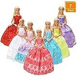 7er Pack Kleider & Kleidung für Barbie-puppe Handmade Modisch Hochzeit Party Abendkleid Kleider &...