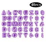 YeeStone Ausstechform Ausstecher 40 Teilig Fondant Ausstechform Buchstaben, Zahlen und Satzzeichen -...