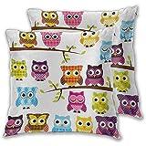 Not Applicable Kindergarten personalisierte Kissenbezug Patchwork Quilt Style Eulen auf Zweigen...