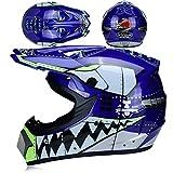 IAMZHL Motorrad Offroad Helm Dirt Bike Helm MTB Downhill Full Face Helm Kapazitten-a73-S