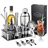 Igrome 16-teiliges Set professioneller Cocktailmixer Insektizid 750 ml Premium Edelstahl Bar Kit mit...