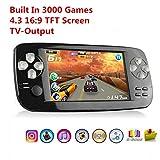 YLM Handheld Spielkonsole,Portable Spielkonsole mit 3000 Spielen und TV-Ausgang, Kamera, SD-Musik...