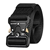 KEYNAT Tactical Belt Military Style Webbing Riggers Web Belt with Heavy Duty Quick Release Metal...