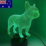 Tianyifengg 3D-LED-7 Farbfernbedienung Nachtlicht Hundelicht Vision Nachtlicht...