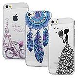 iPhone SE Handyhülle iPhone 5S 5 Hülle Case Cover Transparent Silikon Weich Tasche Durchsichtige...