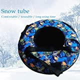 Morningtime Aufblasbarer Schlitten Schneeschuhe für Winterspaß mit Griffen Frostbeständig...