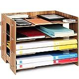 Tonsmile Dokumentenablage Holz Briefablage Papierablage A4 Ablage Ablagesystem für Büro Papier...