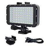 ROKF Tauchlicht, 5000lux High Power Dimmable 84 LED Video Light Fill Nachtlicht, wasserdichtes...