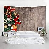 MSHTXQ Weihnachten Tapisserie Polyester Weihnachten Socken Kamin Wandteppich Happy New Year Home...