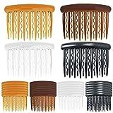 24 Stück Haarspange Kämme,Hair Combs Slides 4 Farben Kunststoff Haarkämme für feines Haar und...