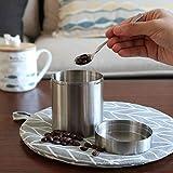 Wintesty Kaffeebohnen Vorratsdosen 400 Ml 304 Edelstahl Aufbewahrungsbox Teedose Verdickung Tee...