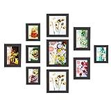 MVPower Bilderrahmen 10er Set Fotorahmen mit Bildabdeckung aus Glas Foto Collage von 4 STK. 10 *...