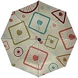 Automatische Regenschirm-Zellen-Hintergrund-Form-Beschaffenheits-Bereich-Würfel-Reise-bequemer...