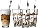 Ritzenhoff & Breker Latte Macchiato Glser-Set, 8-teilig mit Lffel