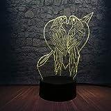 3D Led Lampe Kuss Vogelhaus Dekoration 7 Farbwechsel Schlafzimmer Tisch Nachtlicht Atmosphäre...