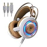 LIMTT Kopfhörer Over Ear, Audio Kopfhörer 2 Meters Long Line Mit Mikrofon Und Lautstärkeregler, 2...